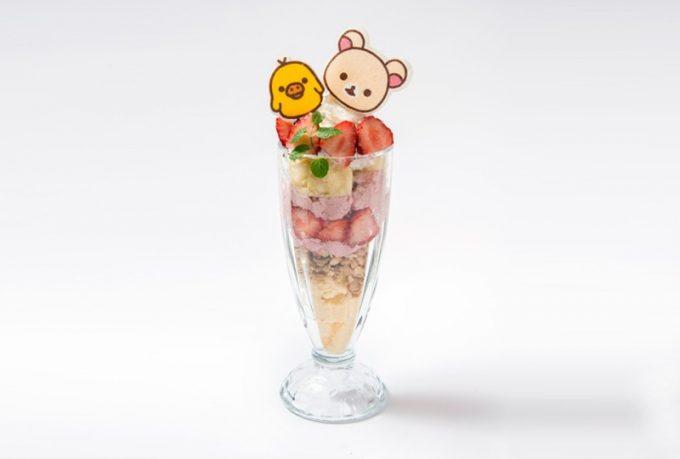 いちご大好き♡コリラックマのいちごハニーパフェ